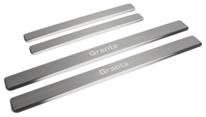 Накладки на внешние пороги для Lada Granta I (2011-2018 / 2018-н.в.) RIVAL NP.6002.3 (комплект 4 шт.)