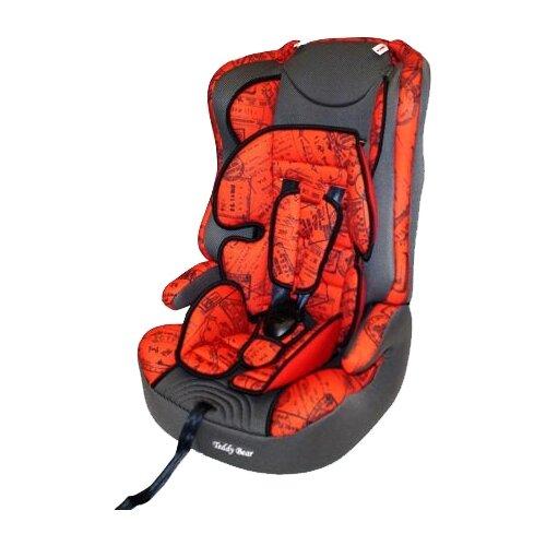 Купить Автокресло группа 1/2/3 (9-36 кг) Мишутка LB 513RF, red/grey (штамп), Автокресла