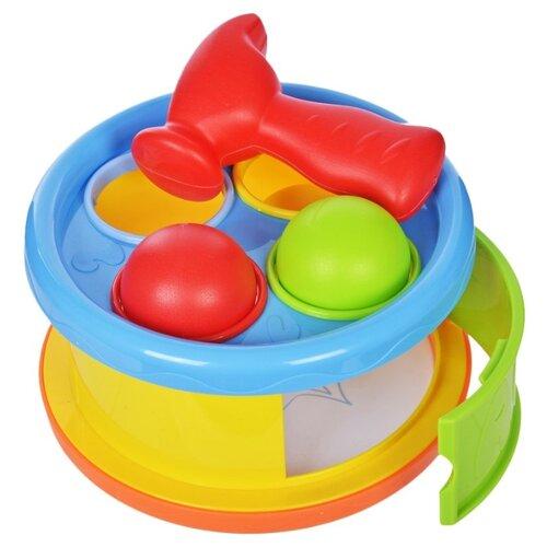 Развивающая игрушка Жирафики Бей в барабан 633053 желтый/красный/голубой/зеленый