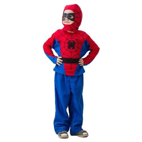 Купить Костюм Бока Человек-Паук люкс, синий/красный, размер 122-134, Карнавальные костюмы