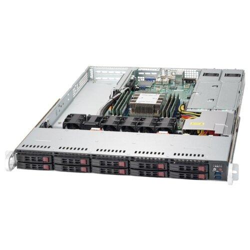 Сервер Supermicro SuperServer 1019P-WTR без процессора/без ОЗУ/без накопителей/количество отсеков 2.5 hot swap: 10/2 x 500 Вт/LAN 10 Гбит/c сервер supermicro superserver 5019s wr без процессора без озу без накопителей количество отсеков 3 5 hot swap 4 2 x 500 вт