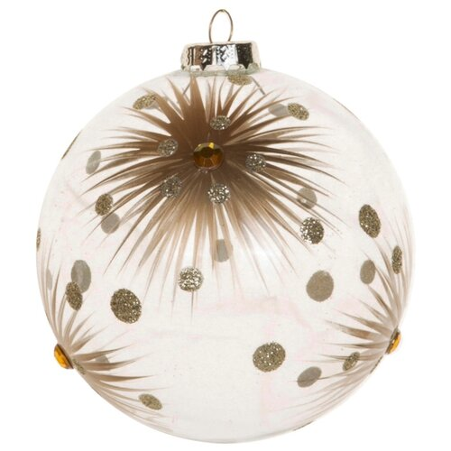 Набор шаров KARLSBACH 06890, прозрачный с золотой звездой