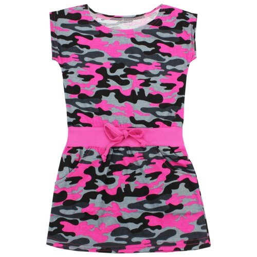 Купить Платье iBala размер 36 (104-110), серый/малиновый, Платья и сарафаны