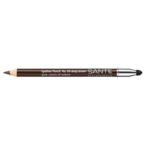 Sante Naturkosmetik Карандаш для глаз, оттенок 06 темно-коричневый