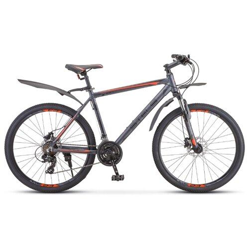 Фото - Горный (MTB) велосипед STELS Navigator 620 D 26 V010 (2020) антрацитовый 14 (требует финальной сборки) горный mtb велосипед stels miss 5000 md 26 v010 2019 бирюзовый 17 требует финальной сборки