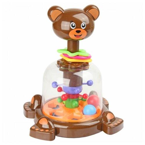 Юла-карусель Ути-Пути Мишутка (82510) коричневый игрушка chuc юла