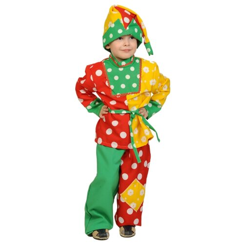 Купить Костюм КарнавалOFF Петрушка (5039), желтый/зеленый/красный, размер 116-122, Карнавальные костюмы