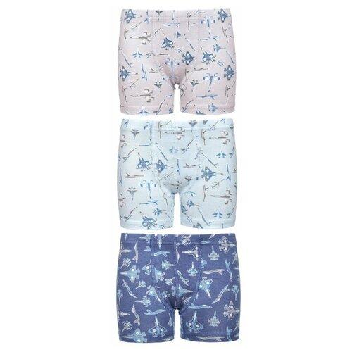 Купить Трусы BAYKAR 3 шт., размер 110/116, голубой/бежевый/синий, Белье и пляжная мода