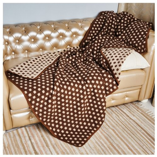 цена Плед Sukno 17-52, 140 х 205 см, коричневый онлайн в 2017 году