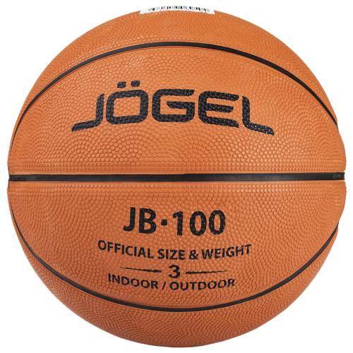 Баскетбольный мяч Jogel JB-100 №3, р. 3 коричневый