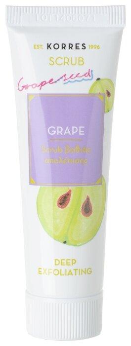 KORRES скраб для лица Grape Deep exfoliating