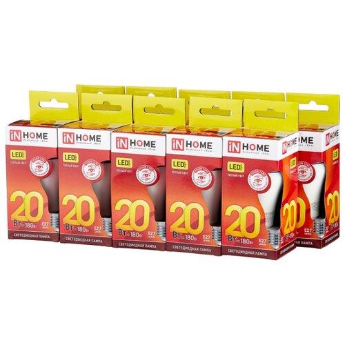 Упаковка светодиодных ламп 10 шт In Home LED-VC 1800lm, E27, A65, 20Вт упаковка светодиодных ламп 10 шт in home led vc 900lm e27 a60 10вт