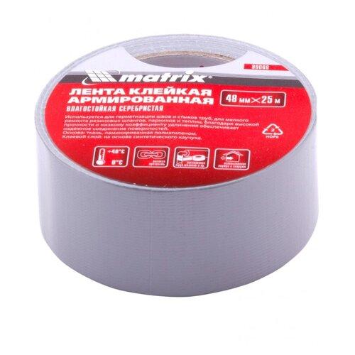 Клейкая лента универсальная MATRIX 89068, 48 мм x 25 м лента клейкая армированная влагостойкая 48 мм х 10 м серебристая matrix