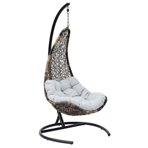 Подвесное кресло ЭкоДизайн Wind, коричневый/черный