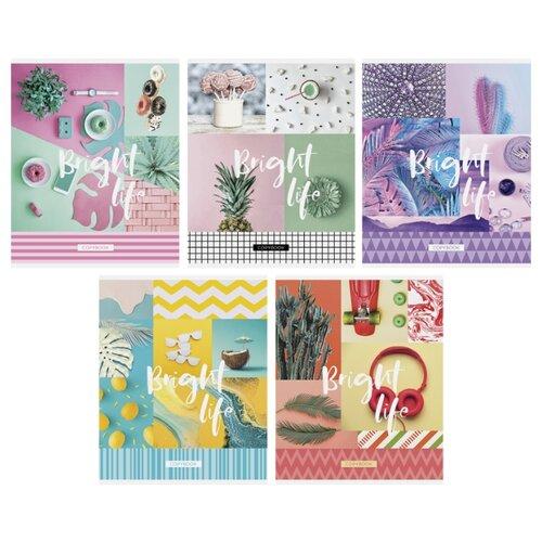 Купить ArtSpace Упаковка тетрадей Стиль. Bright life Т48к_24378, 10 шт./5 дизайнов, клетка, 48 л., Тетради