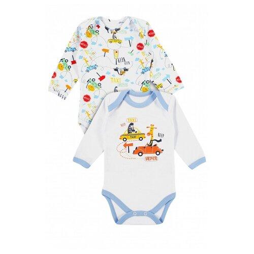 штанишки для мальчика веселый малыш one цвет голубой 33150 one c 1 размер 68 Боди Веселый Малыш размер 68, белый/голубой/желтый