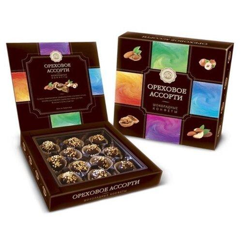 Набор конфет Микаелло Ореховое ассорти белая и темная шоколадная глазурь 240 г коричневый laima царицино ассорти конфет в темном шоколаде 360 г