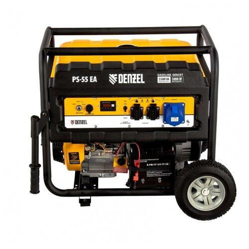Бензиновый генератор Denzel PS 55 EA (5000 Вт)