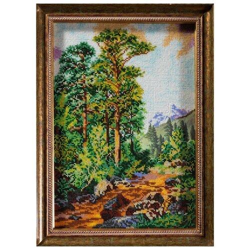 Кроше Набор для вышивания бисером Горная тропа 26 x 37 см (В-244)