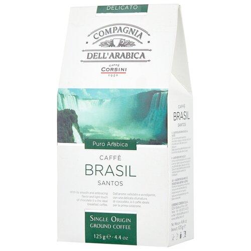 Фото - Кофе молотый Compagnia Dell` Arabica Brasil Santos, 125 г кофе молотый compagnia dell arabica brasil santos 125 г