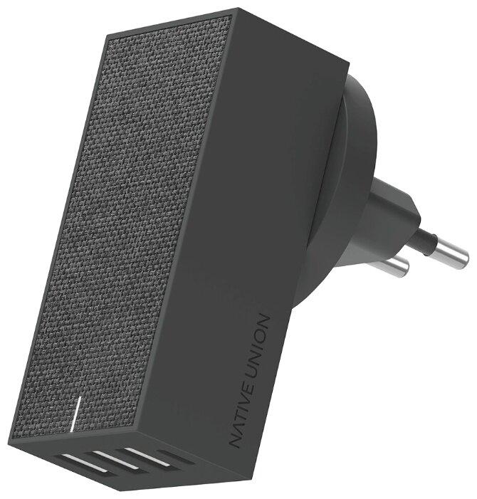 Сетевая зарядка Native Union Smart 4 Charger, slate фото 1