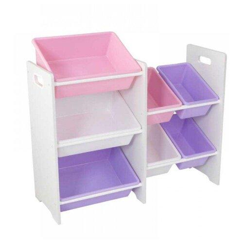Фото - Стеллаж KidKraft с 7 контейнерами 83x30x74 см Pastel & White kidkraft эксклюзивный книжный шкаф kidkraft pastel