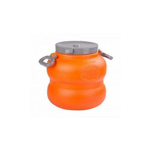 Фото - Канистра-бочка Альтернатива. Байкал с навесными ручками, 20 литров (оранжево-серый) канистра пласт бочонок 75 л с навесными ручками 1 2 альтернатива м1008