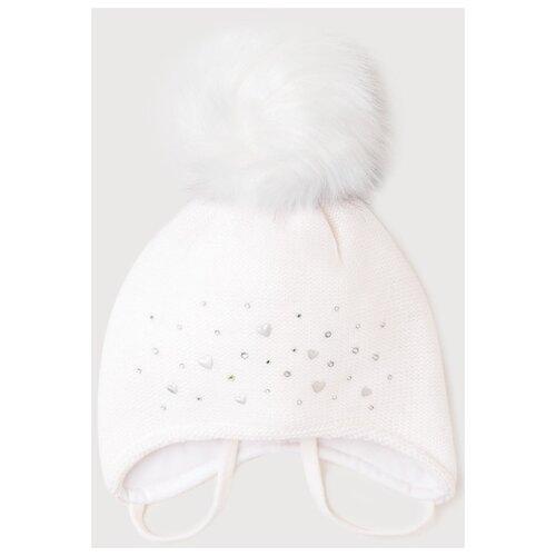 Шапка crockid размер 42-44, белый шапка ultis размер 44 46 белый с красными цветами
