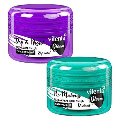 Vilenta Набор для лица Гель-крем для лица Pre-Makeup, 50 мл + Крем для лица Day & Night Bloom, 50 мл, 50 мл (2 шт.) lipikar крем для лица