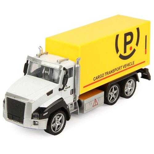 Грузовик DRIFT Спецтехника Cargo Vehicle (64978) 1:36 21 см белый/желтый