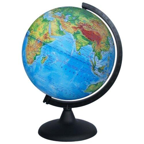 цена на Глобус физический Глобусный мир 210 мм (10005) черный