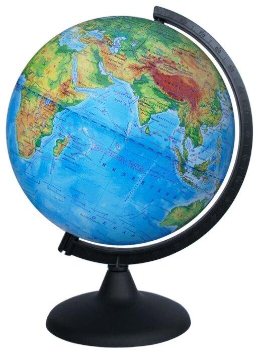 Глобус физический Глобусный мир, 21см, на круглой подставке (арт. 212589)