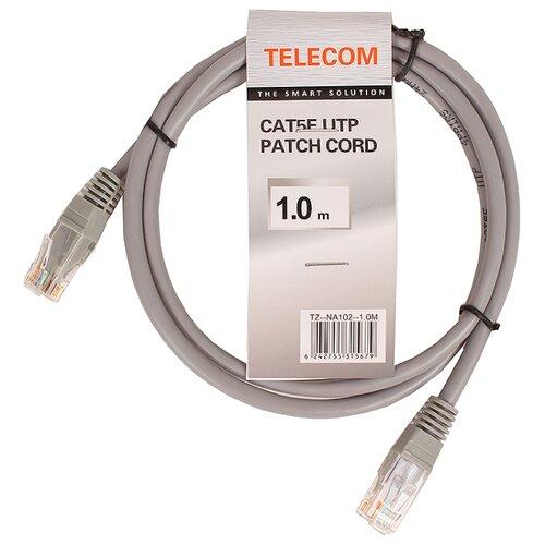 Патч-корд Telecom NA102--1M RJ-45 (M) 1 м CAT5e серый