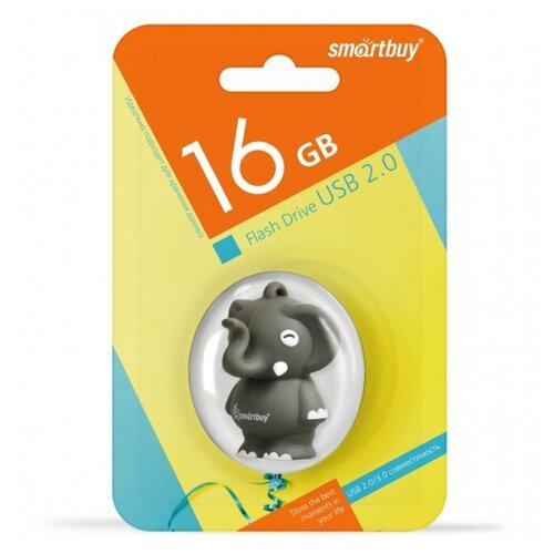 Фото - Флешка SmartBuy Wild Series Elephant 16GB серый 1 шт. машина стиральная hansa whb 838 5кг 800об 47см