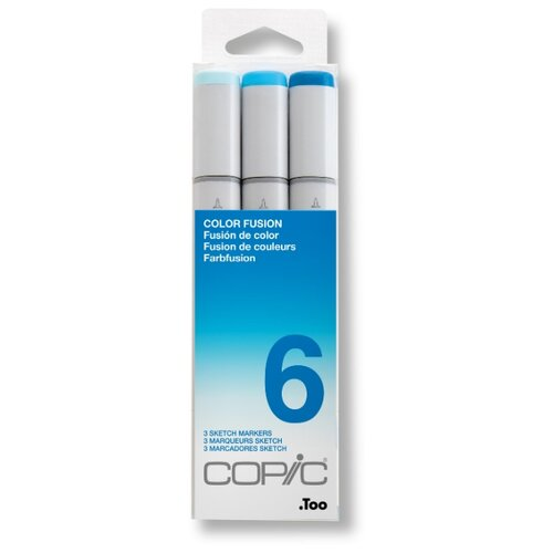 Купить COPIC набор маркеров Sketch Color Fusion 6 (H21075-656), 3 шт., Фломастеры