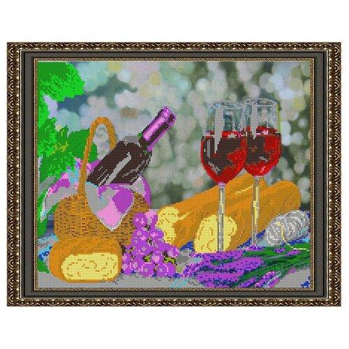 Светлица набор для вышивания бисером Натюрморт с вином 39 х 31 см, бисер Чехия (368)