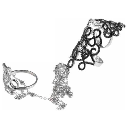 JV Кольцо с фианитами из серебра R25192-R-001-WG, размер 17 jv кольцо с фианитами из серебра r25193 r 001 wg размер 17