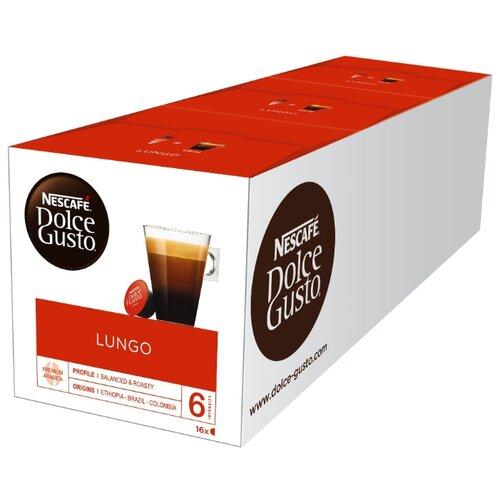 Кофе в капсулах Nescafe Dolce Gusto Lungo (48 капс.), без кофеина кофе в капсулах nescafe dolce gusto mexico americano 12 капс