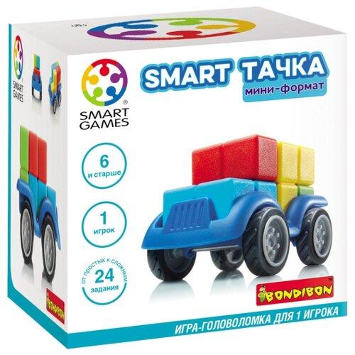 Купить Головоломка BONDIBON Smart Games Smart Тачка мини-формат (ВВ3700) голубой/красный/желтый/зеленый, Головоломки
