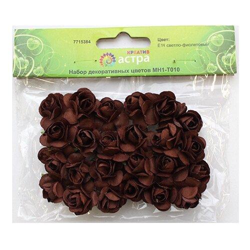Фото - Набор декоративных цветов. E19 коричневый, арт. MH1-T010 mh1 t010 набор декоративных цветов d 2 2см 24шт астра e19 коричневый