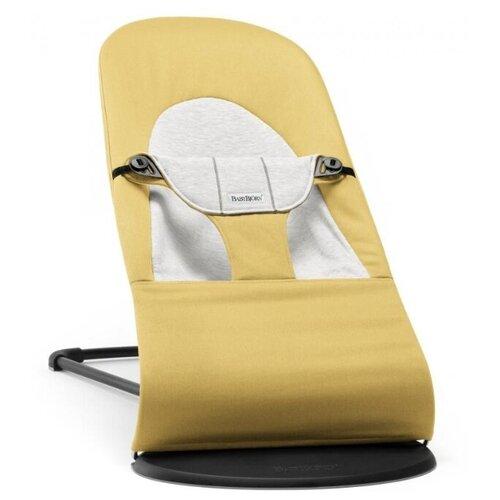 цена на Шезлонг BabyBjorn Balance Soft (хлопок/джерси) yellow/grey