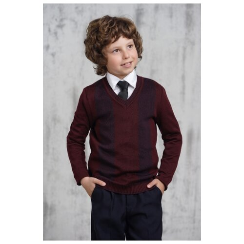 Пуловер VAY размер 128, бордовый