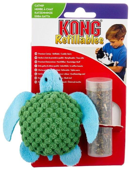 Игрушка для кошек KONG Черепашка с тубом кошачьей мяты (NT43E)