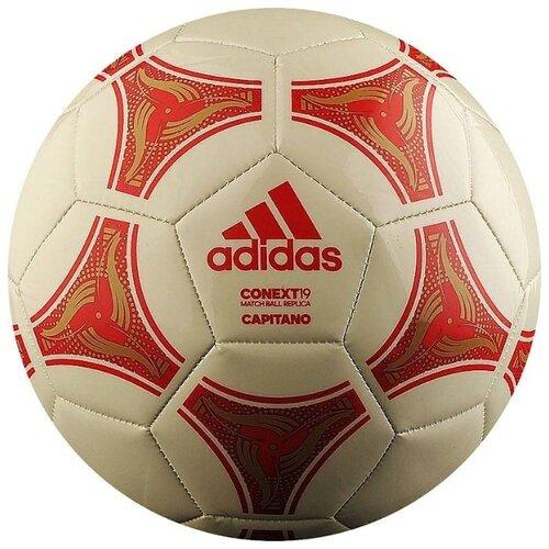 Футбольный мяч adidas Conext 19 Capitano бежевый/красный 5