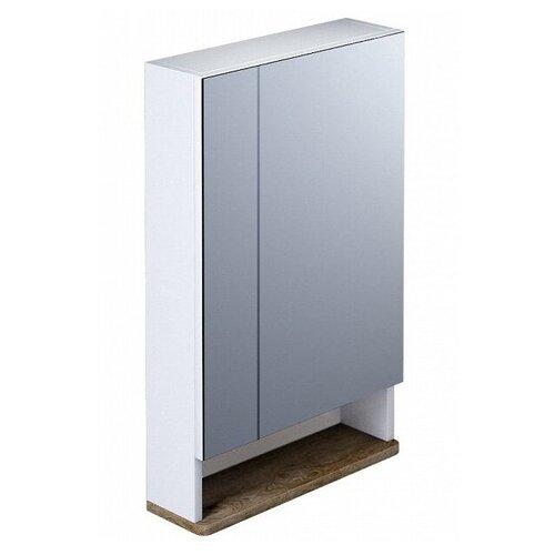 Шкаф-зеркало для ванной IDDIS Carlow CAR5500i99, (ШхГхВ): 55х17х74.7 см, белый/дерево цена 2017
