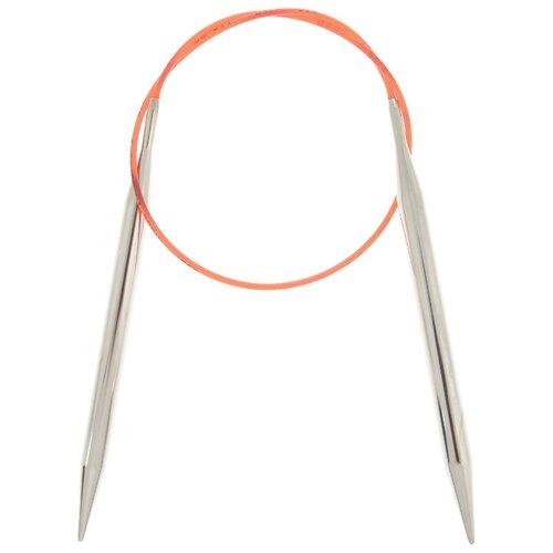 Купить Спицы ADDI круговые с удлиненным кончиком 775-7, диаметр 8 мм, длина 50 см, серебристый/красный