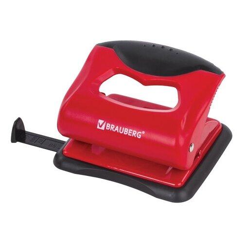 Купить Дырокол BRAUBERG Jet Pro 228599 20 листов, красный/черный, Дыроколы