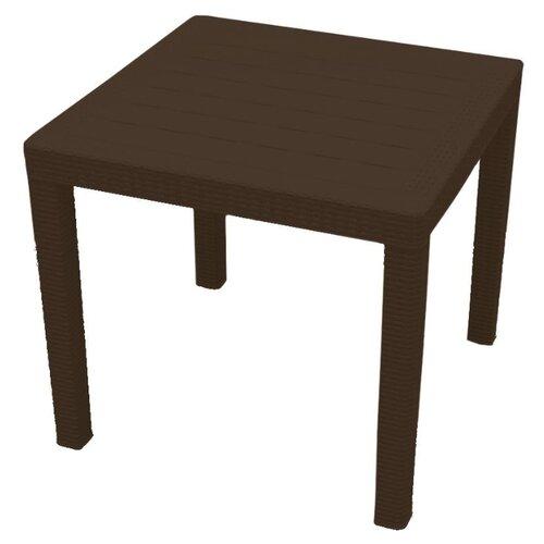 Стол обеденный садовый InGreen Rattan малый, горький шоколад