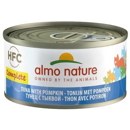 Влажный корм для кошек Almo Nature беззерновой, с тунцом, с тыквой 70 г