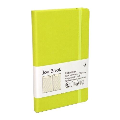 Купить Ежедневник Канц-Эксмо Paper Art. Joy Book недатированный, искусственная кожа, А5, 136 листов, салатовый, Ежедневники, записные книжки